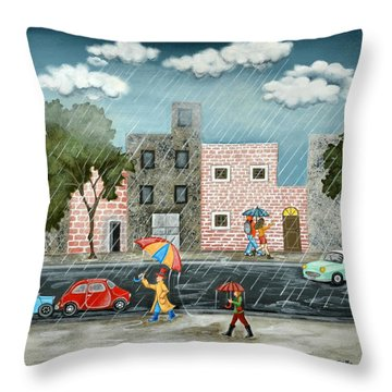 A Great Rainy Day Throw Pillow