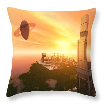 A Great Vision Throw Pillow by Corey Ford
