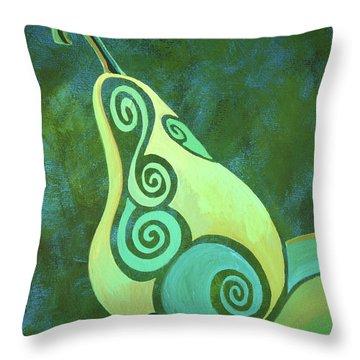 A Groovy Little Pear Throw Pillow