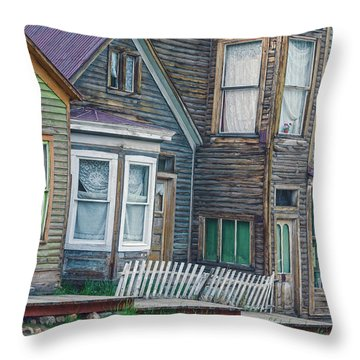 A Haimish Abode From A Bygone Era Throw Pillow