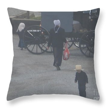 A Handful For Mom Throw Pillow