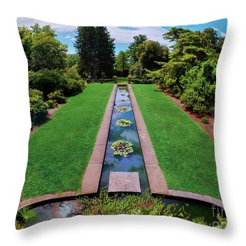 Throw Pillow featuring the photograph A Happy Garden by Mark Miller