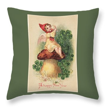 A Happy New Year Greeting Throw Pillow