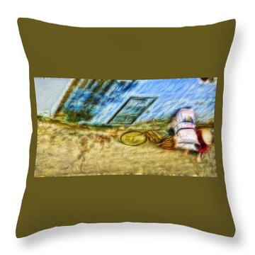 A Hard Day Throw Pillow by Cameron Wood