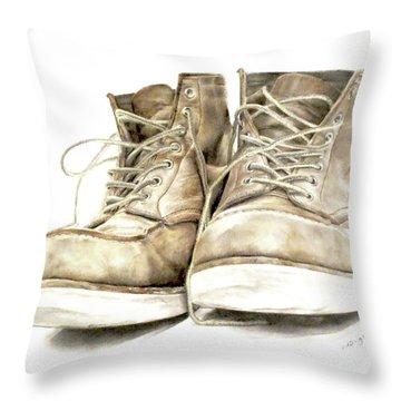 A Hard Day's Work Throw Pillow