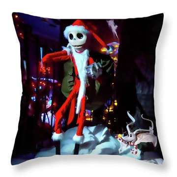 A Haunted Christmas Throw Pillow