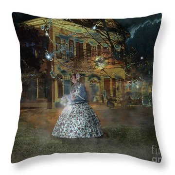 A Haunted Story In Dahlonega Throw Pillow