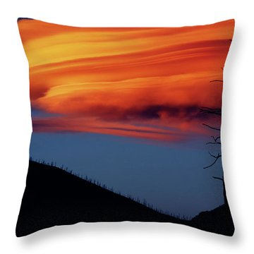 A Haunting Sunset Throw Pillow