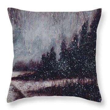 A Hazy Shade Of Winter  Throw Pillow