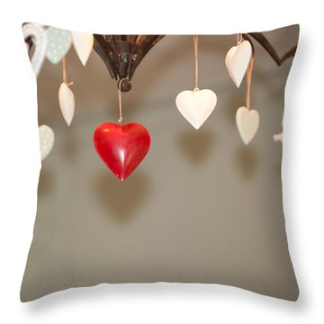 A Heart Among Hearts I Throw Pillow