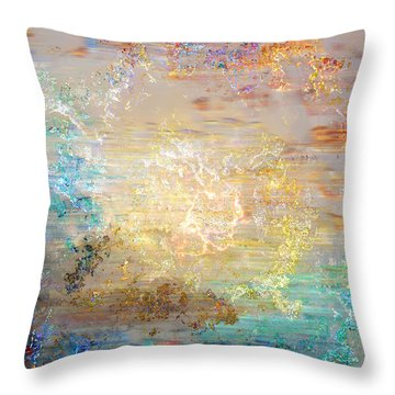 A Heart So Big - Custom Version 3 - Abstract Art Throw Pillow