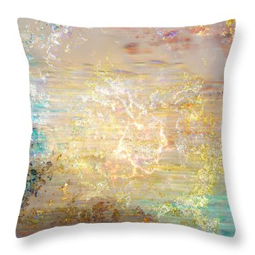 A Heart So Big - Custom Version 4 - Abstract Art Throw Pillow