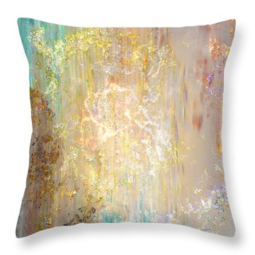 A Heart So Big - Custom Version 5 - Abstract Art Throw Pillow