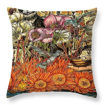 A Helping Hand...? Throw Pillow