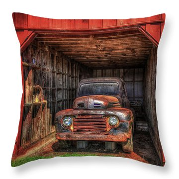 A Hiding Place 1949 Ford Pickup Truck Throw Pillow