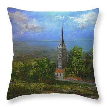 A Higher Place Throw Pillow