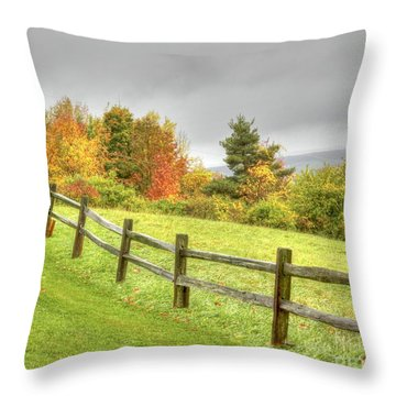 A Highland Forest Autumn Throw Pillow