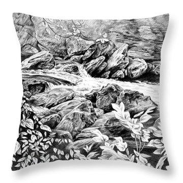 A Hiker's View - Landscape Print Throw Pillow