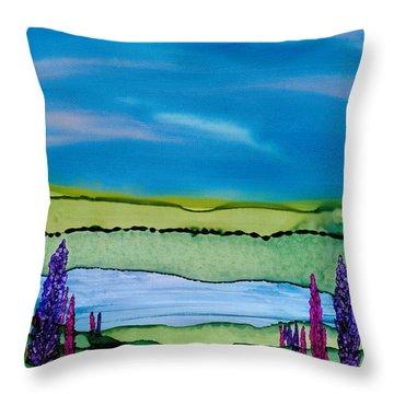 A Hint Of Lochaber Throw Pillow