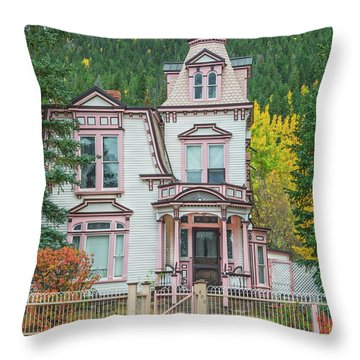 A Historical Treasure Constructed In 1870, Maxwell House, Georgetown, Colorado  Throw Pillow