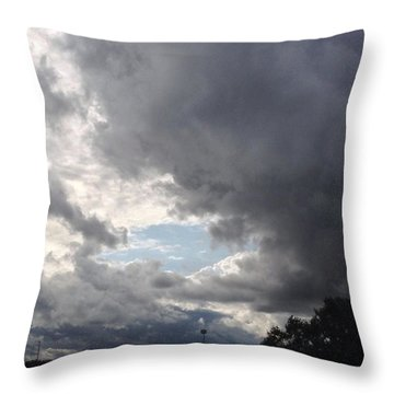 A Hole In The Clouds Throw Pillow