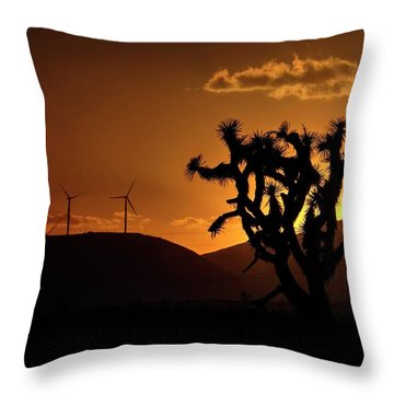 Throw Pillow featuring the photograph A Holy Joshua Tree by Peter Thoeny