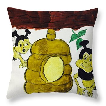 A Honey And The Bees Throw Pillow