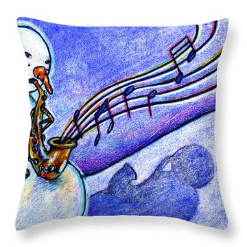 A Horn For Playing Throw Pillow