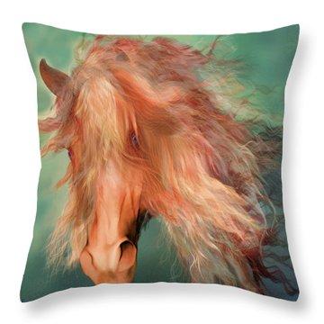 A Horse Called Copper Throw Pillow