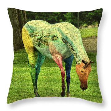 A Horse Is A Horse Throw Pillow