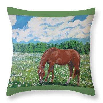 A Horse Named Dante Throw Pillow