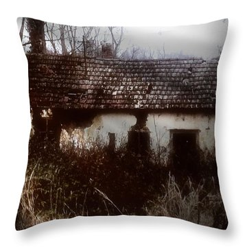 A House In The Woods Throw Pillow by Mimulux patricia no No