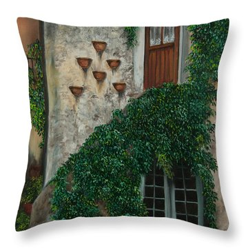 A House Of Vines Throw Pillow by Charlotte Blanchard