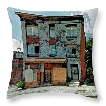 A House On Bloom Street Throw Pillow