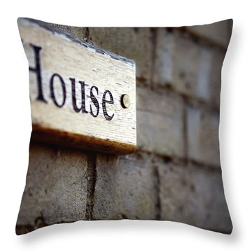 A House Sign Throw Pillow