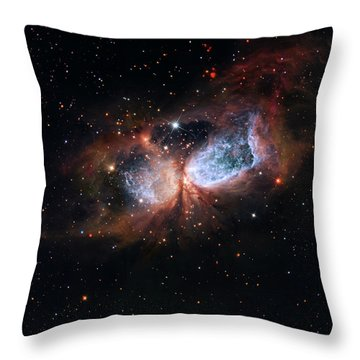 Throw Pillow featuring the photograph A Composite Image Of The Swan by Nasa