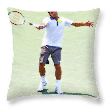 A Hug From Roger Throw Pillow by Steven Sparks
