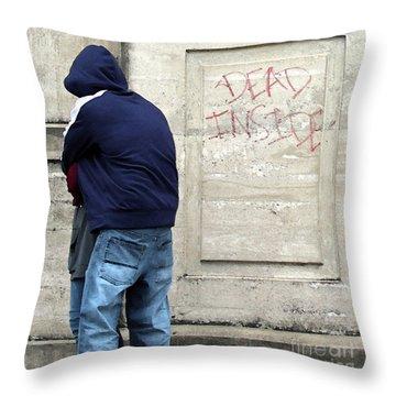 Throw Pillow featuring the photograph A Hug by Joe Jake Pratt