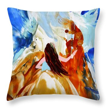 A Hula For You Throw Pillow by Marionette Taboniar