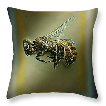 A Humble Bee Remembered Throw Pillow