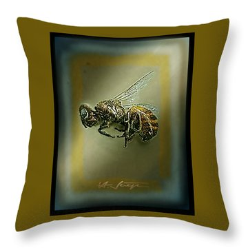 A Humble Bee Remembered Throw Pillow by Hartmut Jager