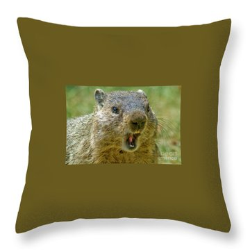 A Hungry Fellow  Throw Pillow by Paul W Faust - Impressions of Light