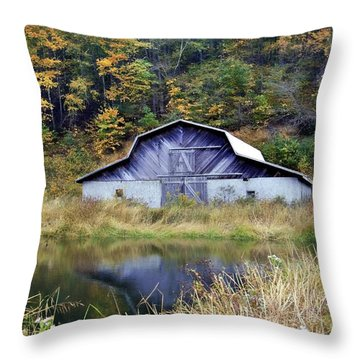 A Is For Autumn Throw Pillow by Benanne Stiens