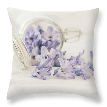 Throw Pillow featuring the photograph A Jar Of Purple Sweetness by Kim Hojnacki