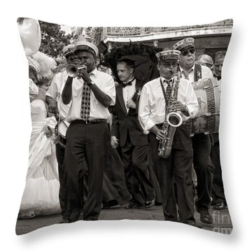 A Jazz Wedding In New Orleans Throw Pillow by Kathleen K Parker