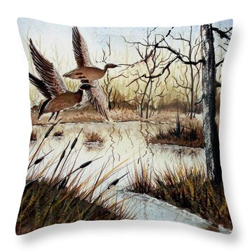 A 'jerry Yarnell' Study Throw Pillow