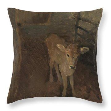 A Jersey Calf, 1893 Throw Pillow