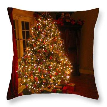A Jewel Of A Christmas Tree Throw Pillow