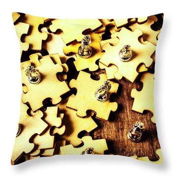 A Jigsaw In Conquest Throw Pillow