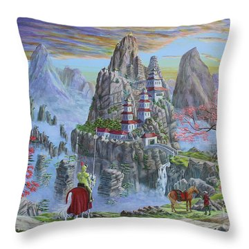A Journey's End Throw Pillow by Anthony Lyon